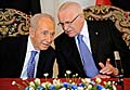 Shimon Prs et Vclav Klaus, photo: CTK
