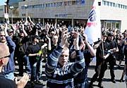 Příznivci extremistické Dělnické strany, foto: ČTK