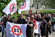 Pochod příznivců extremistické Dělnické strany v Krupce na Teplicku, foto: ČTK