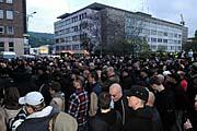 V Ústí nad Labem se 18. dubna sešli příznivci extremistické organizace Autonomní nacionalisté (Foto: ČTK)