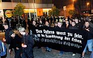 V Ústí nad Labem se 18. dubna konal pochod svolaný extremistickou organizací Autonomní nacionalisté (Foto: ČTK)