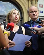 Kateřina Jacques a Michael Kocáb vystoupili proti předvolebnímu spotu Národní strany, foto: ČTK
