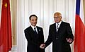 Václav Klaus (rechts) und Wen Ťia-pao (Foto: ČTK)