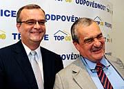 Miroslav Kalousek et Karel Schwarzenberg, photo: CTK
