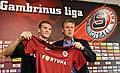 L'entraîneur du Slavia, Jozef Chovanec (à dr.) et l'international russe Alexander Prudnikov, photo: CTK