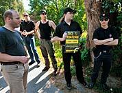 Rechtsextremisten-Gruppe in Husinec (Foto: ČTK)