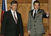 Premiér Jan Fischer a jeho maďarský kolega Gordon Bajnai (Foto: ČTK)