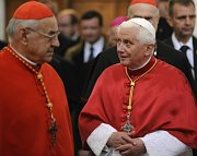 Cardinal Miloslav Vlk, Pope Benedict XVI, photo: CTK