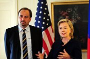 Jan Kohout et Hillary Clinton, photo: CTK