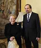 Madeleine Albright, Czech foreign minister Jan Kohout, photo: CTK