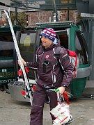 Petr Záhrobský mladší při tréninku volympijském Whistleru, foto: ČTK