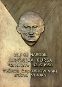 A memorial plaque to Jaroslav Kursa, photo: CTK