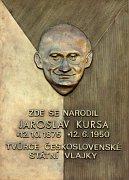A memorial plaque to Jaroslav Kursa, photo: CTK