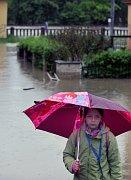 Následky povodně vHranicích na Moravě, foto: ČTK