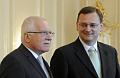 Vclav Klaus und Petr Neas (Foto: TK)