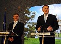 Jan Fischer und Petr Nečas (Foto: ČTK)