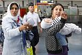 Roma women gesture before being expelled from France at Roissy airport, photo: CTK
