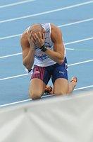 Petr Svoboda po neúspěšném běhu na 110 metrů překážek, foto: ČTK