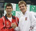 Novak Djokovic et Tomáš Berdych, photo: CTK