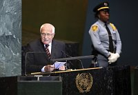 Václav Klaus addresses the 65th session of the United Nations General Assembly at United Nations headquarters, photo: CTK