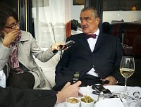 Anna Kubišta et Karel Schwarzenberg, photo: CTK