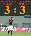 Le Sparta Prague a concd  domicile le match nul (3-3) contre les Suisses du Lausanne Sport, photo: CTK