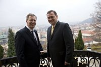 Christian Wulff und Petr Neas (Foto: TK)