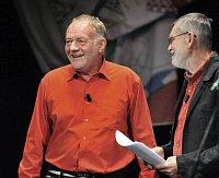Ze slavnostního představení, na snímku Luděk Sobota (vlevo) aJan Schmid, foto: ČTK