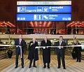 Giorgio Napolitano et Václav Klaus (au milieu), ont inauguré le nouveau hall de la Gare centrale de Prague, photo: CTK
