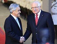 Sebastián Piñera y Václav Klaus, foto: ČTK