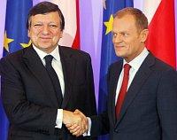 José Manuel Barroso y Donald Tusk, foto: ČTK