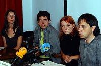 Zleva Monika Bunžová, Jan Skalík, Alexandra Mateásková aJaromír Bláha, foto: ČTK