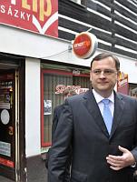 Petr Nečas in Nový Bor, photo: CTK