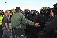 Demonstrace ve Varnsdorfu, 10. září 2011, foto: ČTK