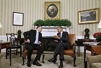 Petr Neas et Barrack Obama, photo: CTK