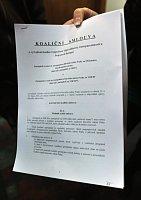 Nová koaliční smlouva, foto: ČTK