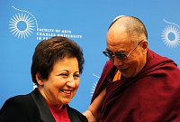 Shirin Ebadi et le dalaï-lama, photo: CTK