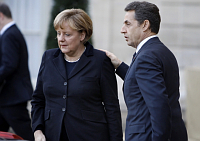 Angela Merkel, Nicolas Sarkozy, photo: CTK