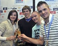 Zleva Denisa Rosolová, Adam Sebastian Helcelet, Pavel Maslák aJakub Holuša, foto: ČTK