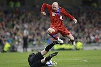 L'équipe de République tchèque de football a fait match nul contre l'Irlande (1-1), photo: CTK
