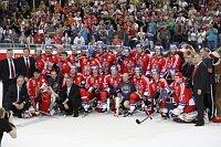 Čeští hokejisté zvítězili vzávěrečném utkání nad Ruskem 2:1, foto: ČTK