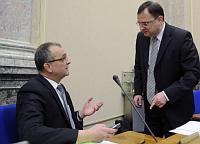 Miroslav Kalousek et Petr Nečas, photo: CTK