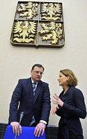 Petr Nečas y Karolína Peake, foto: ČTK