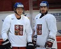 Martin Erat a&nbsp;Tom Plekanec (vpravo), foto: TK