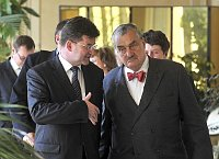 Miroslav Lajk und Karel Schwarzenberg (Foto: TK)