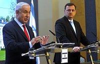 Benjamin Netanyahou et Petr Nečas, photo: CTK