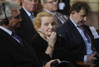 Milan tch, Madeleine Albright et Michael antovsk, photo: CTK