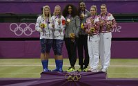 Andrea Hlavkov, Lucie Hradeck, Serena Williams, Venus Williams, Maria Kirilenko, Nadia Petrova, photo: CTK