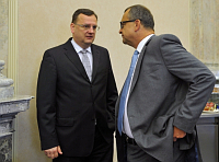 Petr Neas, Miroslav Kalousek, photo: CTK