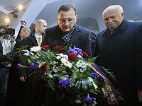 Petr Nečas and Václav Klaus, photo: CTK
